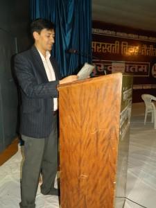 Chatra Sansad Shapath Grahan  Samaroh Main Bolte hue District Magistrate   Shri Deepak Rawat JI