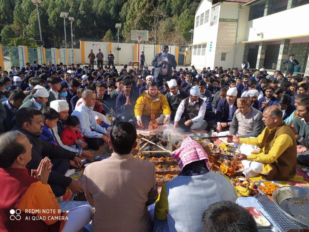 On the occasion of Basant Panchami,  Maa Saraswati Pujan and Yagya conducted at the school